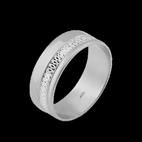Обручальное кольцо серебряное ОС-7003