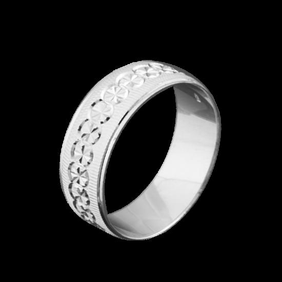 Обручальное кольцо серебряное ОС-7008