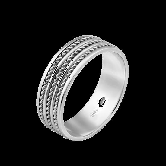 Обручальное кольцо серебряное ОС-7024