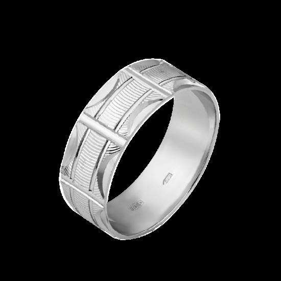 Обручальное кольцо серебряное ОС-7025