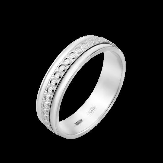 Обручальное кольцо серебреное  ОС-7501