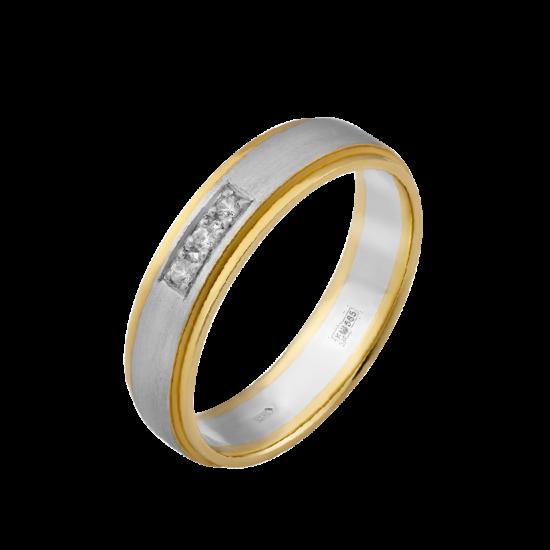 Обручальное кольцо золотое ОЗ-0001ф