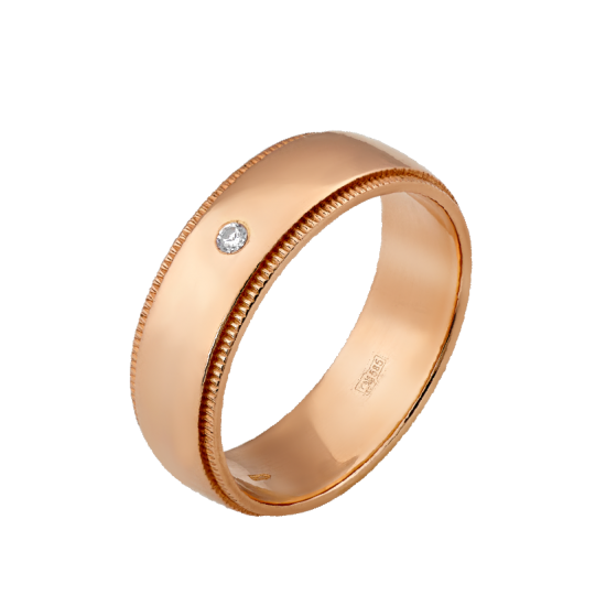 Обручальное кольцо золотое ОЗ-0002