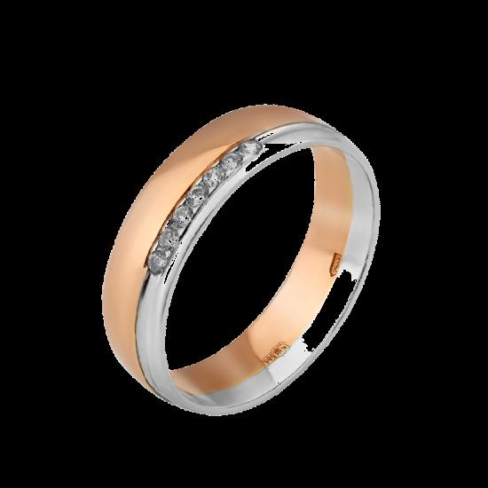 Обручальное кольцо золотое ОЗ-0004ф