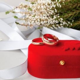 Обручальное кольцо золотое класическое