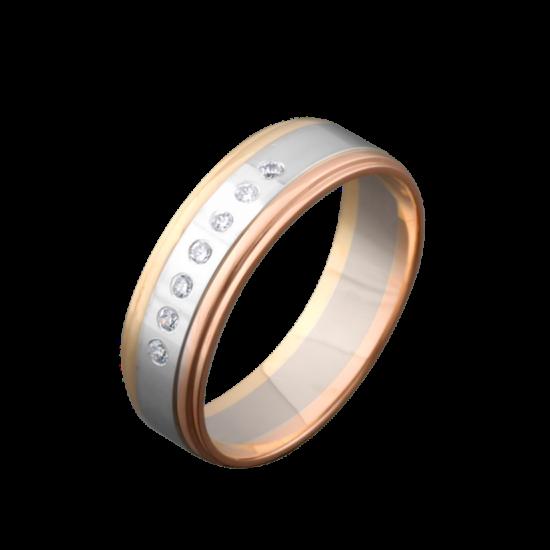 Обручальное кольцо золотое ОЗ-2102ф