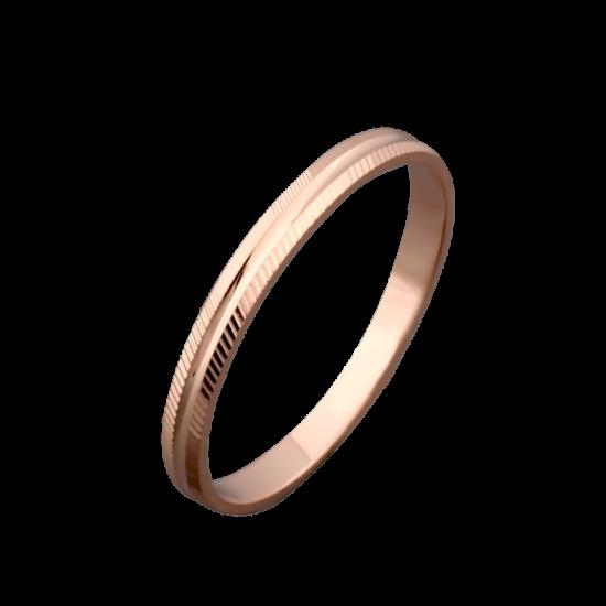 Обручальное кольцо золотое тоненькое ОЗ-3025