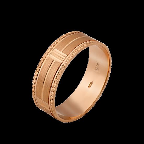 Обручальное кольцо золотое ОЗ-6521