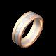 Обручальное кольцо золотое с камнями ОЗ-6602ф