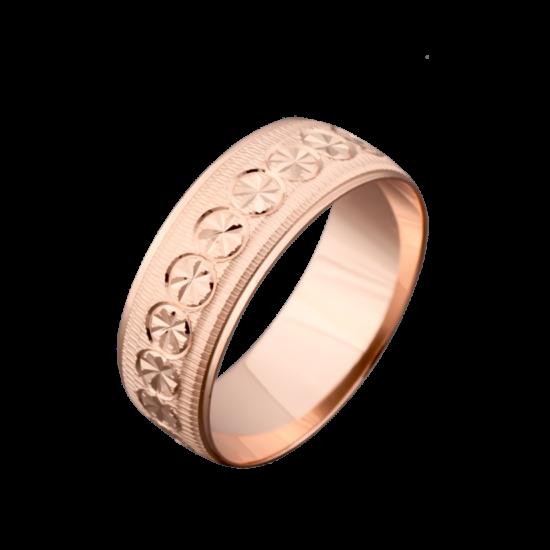 Обручальное кольцо золотое  ОЗ-7008